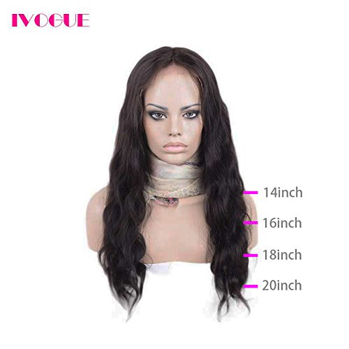 Pre Plucked 13X6inch Deep Part Lace Front Human Hair Wigs With Baby Hair For Black Women Malaysian Soft Virgin Hair (18inch) by iVogue Hair (Image #3)