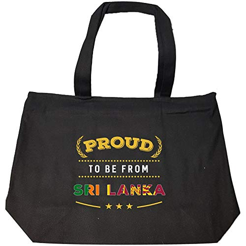 Proud To Be From Sri Lanka Pride - Fashion Zip Tote Bag