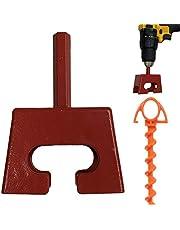 Keyfit Tools - Taladro de velocidad para estaca en tu tienda de campaña en cuestión de segundos. Multifuncional funciona en lazos para perros, anclajes para árboles, anclajes de tierra de acero sólido para una vida útil de uso
