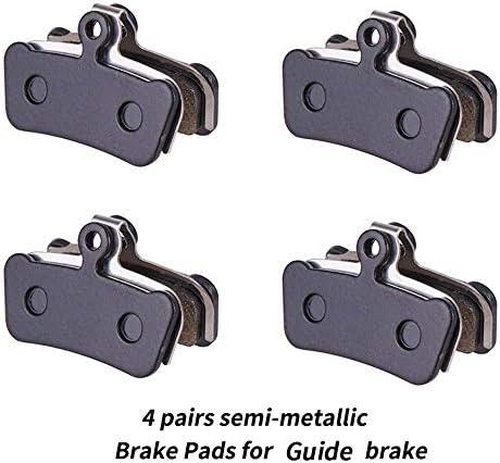4 Pairs Semi Metal Brake Pads For SRAM-Guide Full Series 4-Pistons MTB Cycling