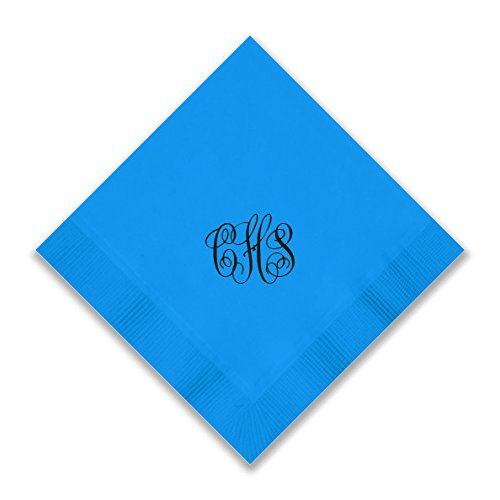 Custom Foil Napkins - Beverage - with Monogram - 3279M by American Stationery (Image #5)