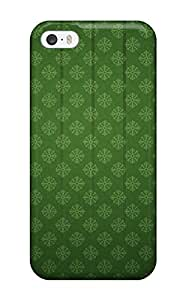 New Iphone 5/5s Case Cover Casing Green With Snowflakes