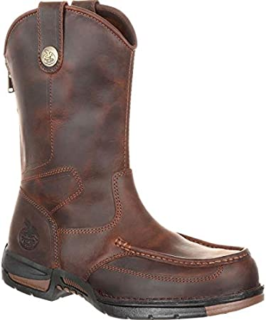 Georgia Boot Athens Pull-On Work Boot Dark Brown