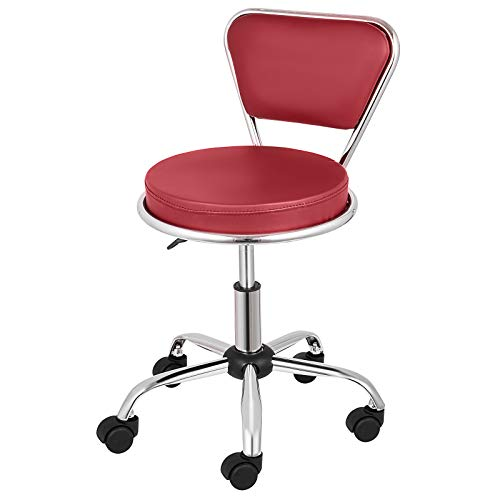Happybuy Salon Nail Pedicure Stool Pneumatic Pedicure Chair Dayton Pedicure Stool Adjustable Height Perfect for Nail Salon Pedicure and SPA (Red)