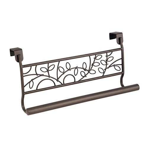 InterDesign Twigz Over-the-Cabinet Kitchen Dish Towel Bar Holder - 9