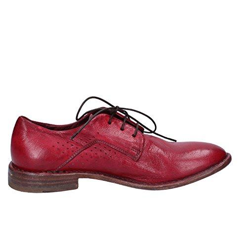 Cordones para Zapatos Cuero de Mujer MOMA Rojo Rojo de qwXE4Oxnv