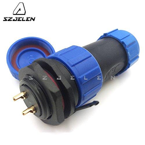 SZJELEN SP21 2Pin/3Pin/4Pin/5Pin Waterproof IP68 21mm Panel Mount Circular Aviation Cable Connector (2Pin)