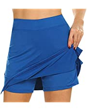 RANSHUO Anti-Chafing Active Skort Skirts Womens Performance Active Womens Running Sport for Running Tennis Golf Workout Sports
