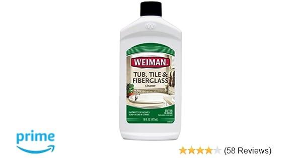 Amazoncom Weiman Bath Tub Cleaner Ounce Fiberglass Cleaner - Best bathtub cleaner ratings
