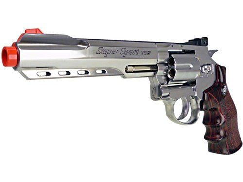 400 fps wg full metal m702 magnum high-powered co2 semi-automatic revolver airsoft pistol - silver(Airsoft Gun)