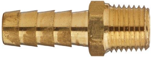 """Anderson Metals 57001 Acople para manguera de latón, adaptador, tubo macho de 3/8 """"Barb x 1/4"""" NPT"""
