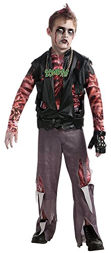 Zombie Punk Halloween Costume (Boy's Zombie Punk Rocker #1 Costume, Medium)