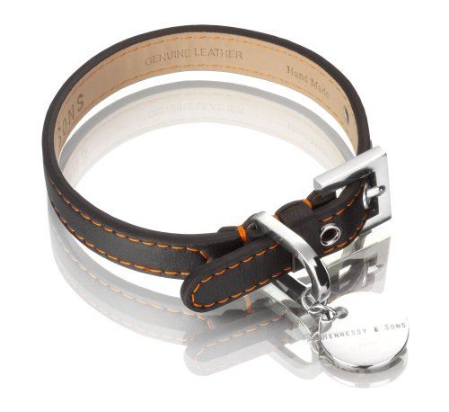 Hennessy Lorica Microfiber and Leather Dog Collar,...