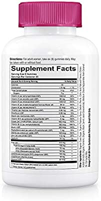 SmartyPants Women's Formula Daily Gummy Vitamins: Gluten Free, Multivitamin & Omega 3 Fish Oil (Dha/Epa), Methyl B12, vitamin D3, Vitamin B6, 120Count (20 Day Supply) - Packaging May Vary
