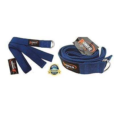 Yoga élastique (Bleu) 180cm ORIGINAL énergie sport marque Sangle Pilates, Crossfit Raffermissement exercice Résistance sangle, Kickboxing, Taekwondo jambe écarteur (nouveau améliorée