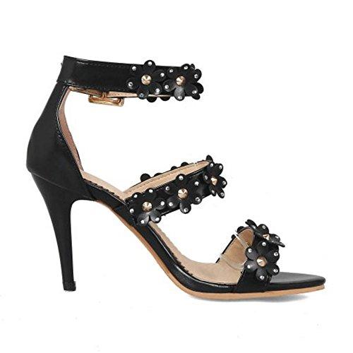 Taoffen Chaussures Sandales Ete Femmes Hauts Talons Black zqUzS7rW