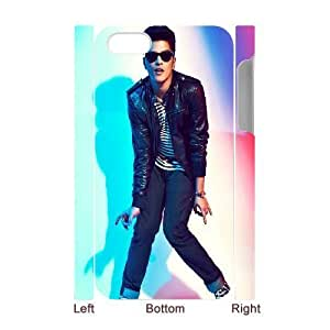 3D IPhone 4/4s Cases Bruno Mars Cute, IPhone 4/4s Cases Bruno Mars Protective For Girls, [White]