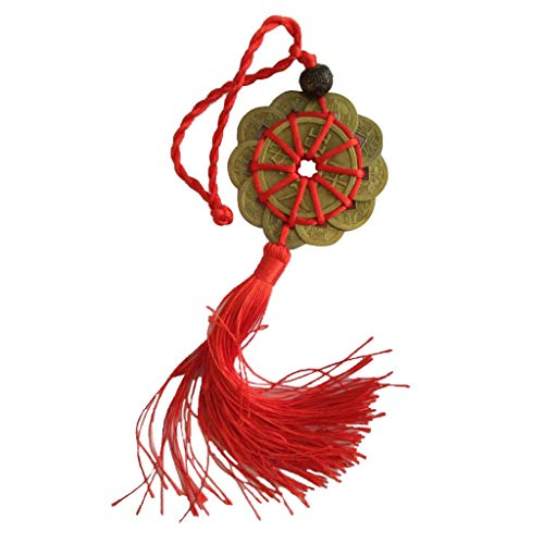 Efaster Ancient Coins,Copper Monkey Hanging Ornament,Prosperity Luck Set of 10 -