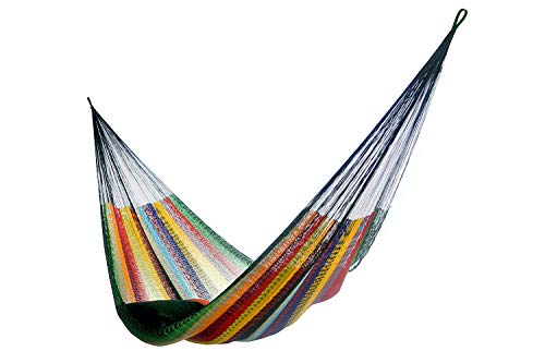 Hammock Rada Handmade Yucatan Matrimonial Size Tropical Multicolor – 13ft Long