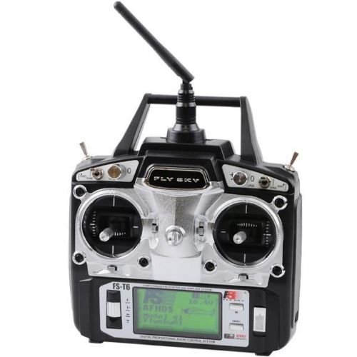 - FlySky FS-T6 2.4G Digital 6 Channel Transmitter And Receiver For RC Quadcopter