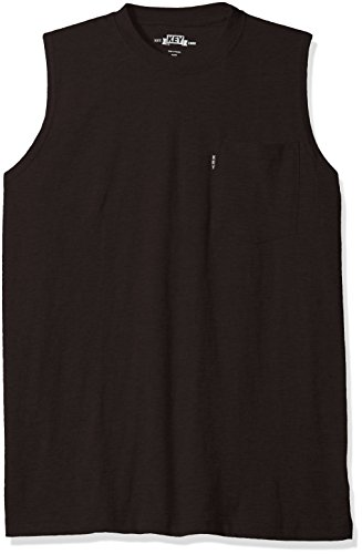 Key Apparel Men's Sleeveless Tee, Black, X-Large