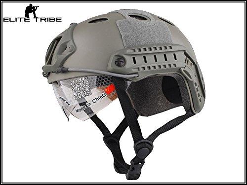casco de paintball militar casco táctico de combate FAST PJ tipo y gafas FG Military Outdoor