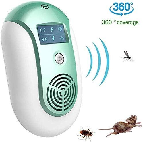 Sooiy Ultrasonidos Repelente de Mosquitos - ahuyentador de ratón casa de plagas electrónica Anti-Mosquitos Asesino del Mosquito Unidad multifunción (Color: Verde) Seguridad Camping