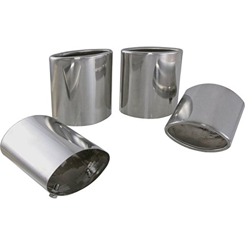 - Eckler's Premier Quality Products 25-112328 - Corvette Exhaust Extensions Stainless Steel Oval Tip