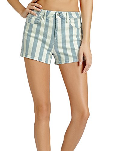 G-by-GUESS-Womens-Abigail-Striped-High-Rise-Shorts