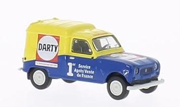 Renault R4 Fourgonnette, Darty , voiture miniature, Miniature déjà montée, Brekina 1: