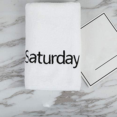 [해외]HUACHEN-LS Soft Bath Towel Size 35x75cm Fadeless Fiber Household Fitness Absorbent Towel Embroidered Letters Soft and Delicate White Stable Structure Towel for Bath Beach (Color : White) / HUACHEN-LS Soft Bath Towel Size 35x75cm Fa...