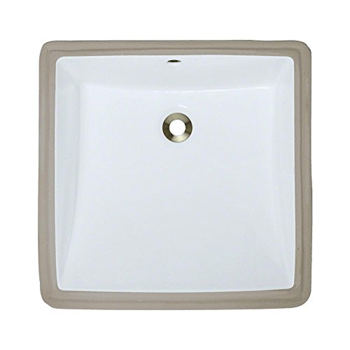 U2230-White Undermount Porcelain Bathroom Sink, Sink Only