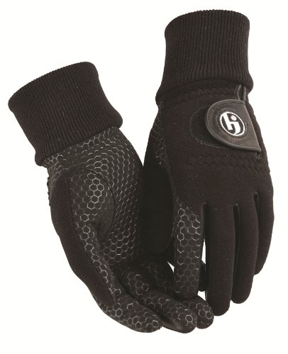 HJ Glove Men's Black Winter Xtreme Golf Glove, Large, Pair
