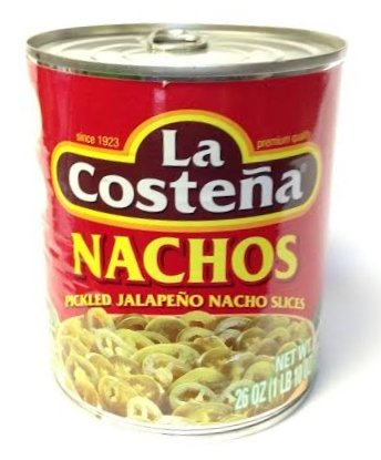 La Costena Nachos - Pickled Jalapeno Pepper Nacho Slices 26 oz.