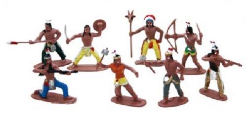 36 Stück Indianer Figuren Indianerparty