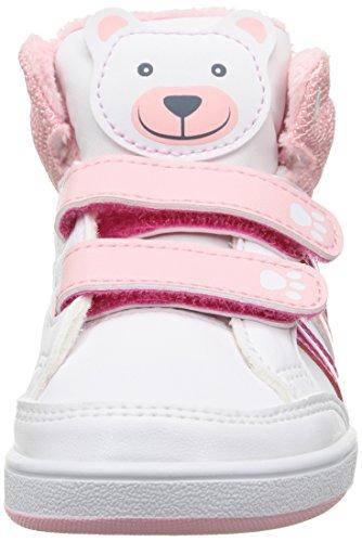 adidas Hoops Animal Mid Inf - Zapatillas Para Niños Blanco / Rosa