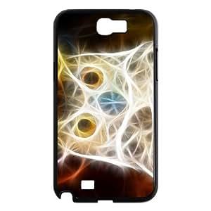 Diy Beautiful Owl Phone Case for samsung galaxy note 2 Black Shell Phone JFLIFE(TM) [Pattern-1]
