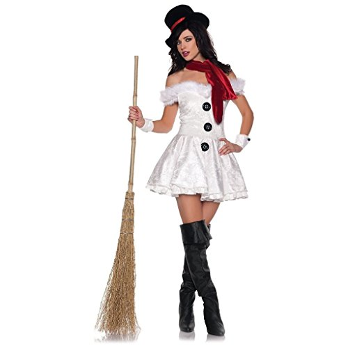 CHSGJY Sexy Snowman Costume Womens Christmas Outfit Adult Fancy Dress