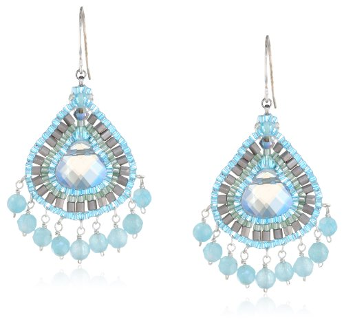 Miguel Ases Sterling Silver Quartz Beaded Multi-Drop Earrings - Miguel Ases Beaded Earrings