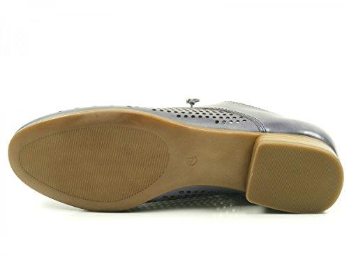 Caprice 23501, Zapatos de Cordones Oxford para Mujer Blau