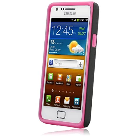 Naztech 11990 Vertex 3-Layer Covers for Samsung Galaxy S II with Screen Protector and Cleaning Cloth - 1 Pack - Skin - Retail Packaging - Light Pink