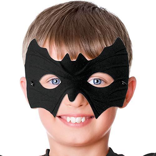 Diy Bat Woman Costume (Skeleteen Bat Eye Mask Costume - Superhero Black Bat Face Masks Dress Up Costume Accessories for Adults and)