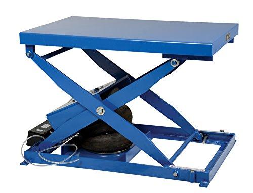 Vestil-ABLT-2000-Heavy-Duty-Air-Bag-Scissor-Lift-Table-2000-lb-Capacity-48-Width-x-32-Length-x-9-Height-Blue-Steel-Height-9-33-80-Minimum-Psi-12-Incoming-Airline