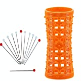 Hourglass Hair Rollers - Orange