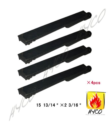 Vicool Cast Iron Barbecue Gas Grill Replacement Burner for Jennair, Lowes Model Grills, hy26301 (4-pack)