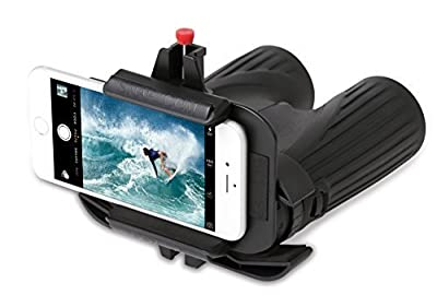 Snapzoom Universal Digiscoping Adapter for iPhone and Android Smartphones. Compatible with Binoculars Microscopes Spotting Scopes and Telescopes. Updated September 2016 by HI Resolution Enterprises, LLC