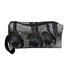 Dnieospla Unisex Texas-Rio-Grande-Turkey-Hunting-in-the-Hill-Country Print Portable Washable Travel Wristlets Bag Small Cosmetic Bag For Women Portable Travel Makeup Bag Handy Cosmetic Pouch