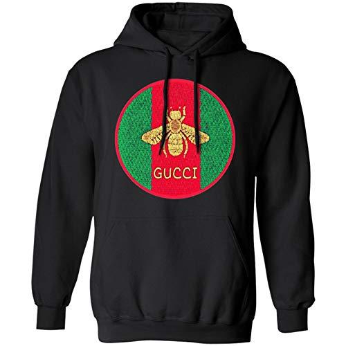 6d01d9fa10b Bee Print GG Gucci Vintage Shirt Gold Logo (Hoodie Black M)