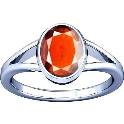 Ramneek jewels Divya Shakti 8.25-8.50 Carats Hessonite (GOMED STONE RING)(Made in Silver) 100% Original AAA Quality Gemstone by Ramneek jewels (Image #4)
