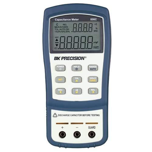B&K Precision 890C Dual Display Handheld Capacitance Meter, 50 mF Max Range by B&K Precision (Image #1)